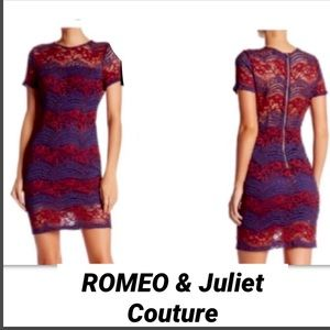 ROMEO & JULIET COUTURE• Lace Sheath Dress